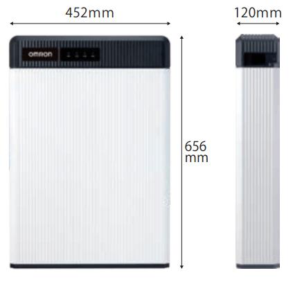 オムロン6.5kWh製品サイズ