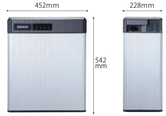 オムロン9.8kWh製品サイズ