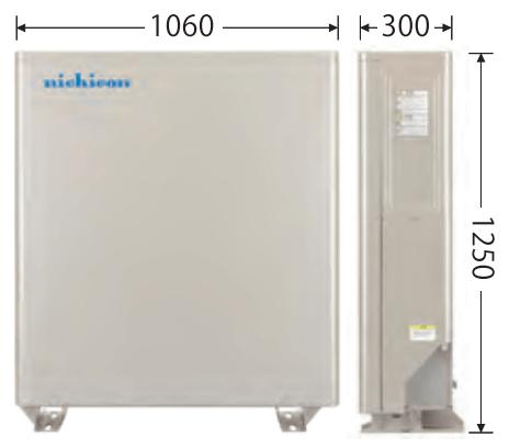 ニチコン12.0kWh製品サイズ