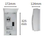 特定負荷用分電盤(KP-DB20B-2)の外形寸法図