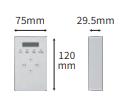 蓄電システム用ゲートウェイ(KP-GWBT-A)の外形寸法図