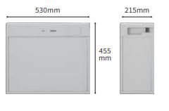 蓄電池ユニット(KP-BU42-A)の外形寸法図