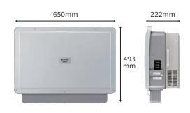 パワーコンディショナ(KPAC-B25/B25-S)の外形寸法図
