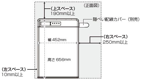 オムロン6.5kWh設置図 正面