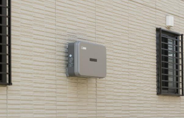 屋外用パワーコンディショナー設置写真