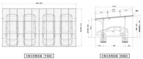 4台置き_平面・側面図