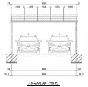 2台置き_正面図
