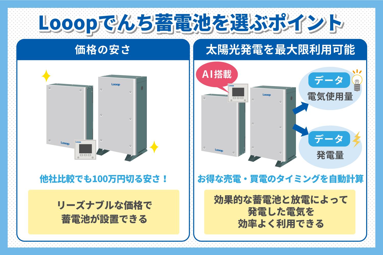 Looopでんち蓄電池を選ぶポイントイメージ