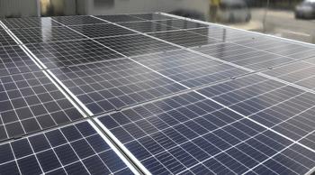 Qセルズ製太陽光 施工写真