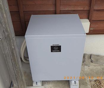 シャープ9.5kWh蓄電池施工写真