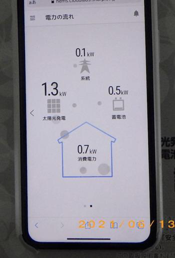 シャープ9.5kWh蓄電池スマホ写真