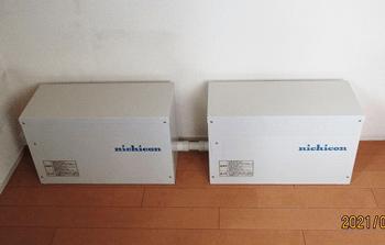 ニチコン トライブリッド8.0kWh 蓄電池 施工写真